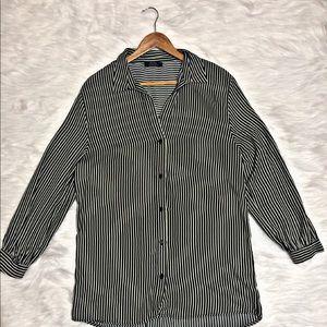 Bershka long Blouse (Black n White Stripes)